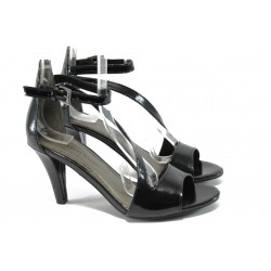 Дамски сандали на висок ток Marco Tozzi 2-28384-34 черен