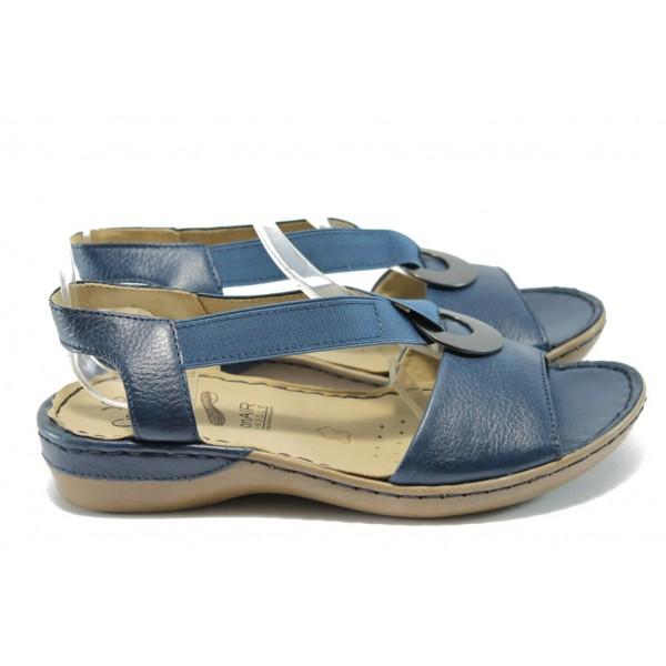 Дамски сандали от естествена кожа Caprice 9-28659-24 син ANTISHOKK