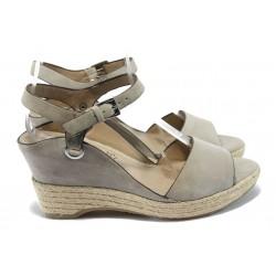 Дамски сандали с мемори пяна S.Oliver 5-28322-24 бежов