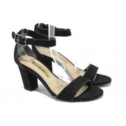 Дамски сандали на висок ток Tamaris 1-28313-24 черен