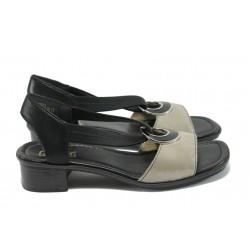 Дамски сандали от естествена кожа Rieker 62689-42 сив ANTISTRESS