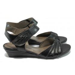 Дамски сандали от естествена кожа Jana 8-28200-24 черен