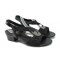 Дамски сандали от естествена кожа Jana 8-28209-24 черен