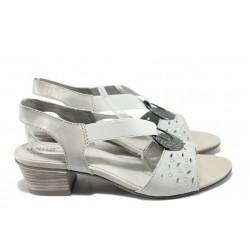 Дамски сандали от естествена кожа Jana 8-28209-24 сив