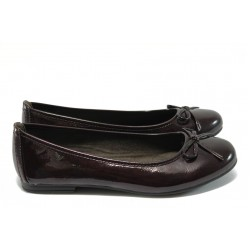 Равни дамски обувки Jana 8-22163-25 бордо лак