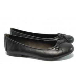 Равни дамски обувки Jana 8-22163-25 черна кожа