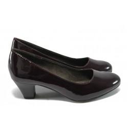 Класически дамски обувки за Н крак Jana 8-22463-24 бордо лак