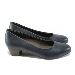 Класически дамски обувки за Н крак Jana 8-22360-25 син