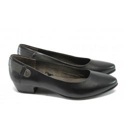 Дамски обувки от естествена кожа Jana 8-22200-25 черен