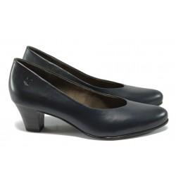 Дамски обувки от естествена кожа Caprice 9-22306-25 син