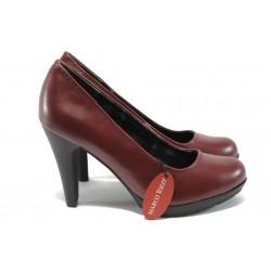 Дамски обувки на висок ток Marco Tozzi 2-22406-25 бордо
