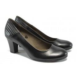 Дамски обувки от естествена кожа на ток Caprice 9-22403-25 черен