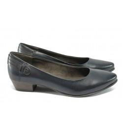 Дамски обувки от естествена кожа Jana 8-22200-25 т.син