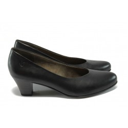 Дамски обувки от естествена кожа Caprice 9-22306-25 черен