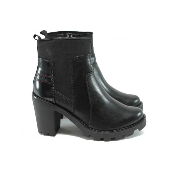 Дамски боти на висок ток за Н крак S.Oliver 5-25474-35 черен