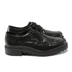 Дамски лачени обувки Rieker 56304-52 черен-зелен ANTISTRESS