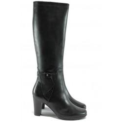 Дамски ботуши от естествена кожа за XS крак Caprice 9-25517-25 черен ANTISHOKK