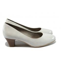 Класически дамски обувки за Н крак Jana 8-22463-26 св.сив лак