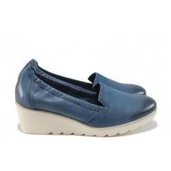 Ортопедични дамски обувки от естествена кожа Marco Tozzi 2-24704-26 син