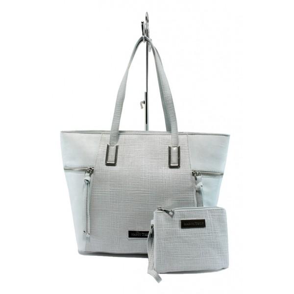 Немски дамски чанти Marco Tozzi 2-61106-26 сребро