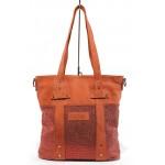 Българска дамска чанта от естествена кожа ИО 8 червен