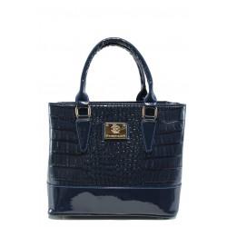 Българска дамска чанта СБ 1194 син кроко | Дамски чанти | MES.BG