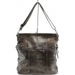 Българска дамска чанта от естествена кожа ИО 3 кафяв | Дамски чанти | MES.BG