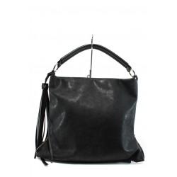 Българска дамска чанта СБ 1205 черен мейс | Дамска чанта | MES.BG
