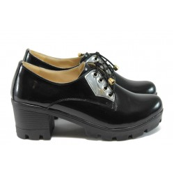 Дамски анатомични обувки на среден ток МИ 862 черен