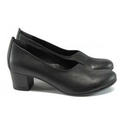 Ортопедични дамски обувки от естествена кожа НБ 14277-858 черен