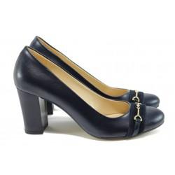 Дамски обувки на висок ток МИ 846 син