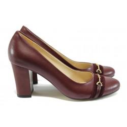 Дамски обувки на висок ток МИ 846 бордо