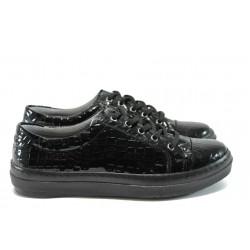 Спортни дамски обувки /тип кец/ МИ 6 черно кроко