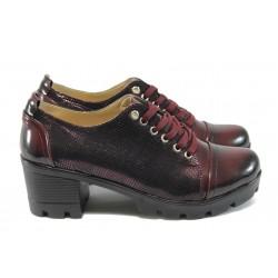 Дамски обувки на среден ток МИ 860 бордо