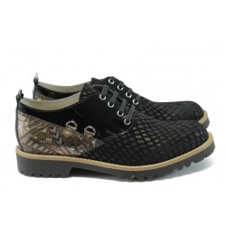 Дамски обувки от естествена кожа ГА 834-24 черен