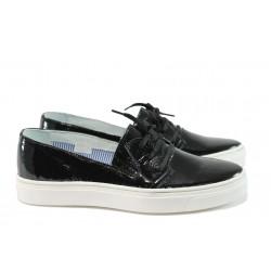 Дамски обувки от естествена кожа МЙ 23098 черен