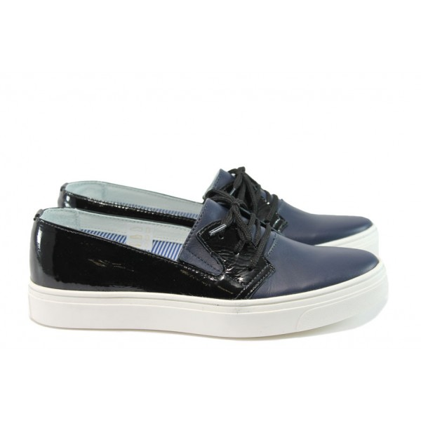 Дамски обувки от естествена кожа МЙ 23098 син