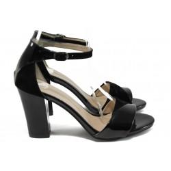 Дамски сандали на висок ток МИ 546 черен