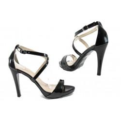 Дамски сандали на висок ток МИ 131 черен