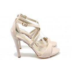 Дамски сандали на висок ток МИ 131 розов