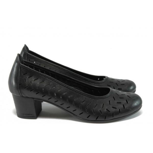 Анатомични дамски обувки от естествена кожа НБ 14277-916 черен
