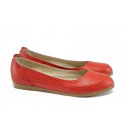 Анатомични дамски обувки от естествена кожа НЛ 169-3406 червен