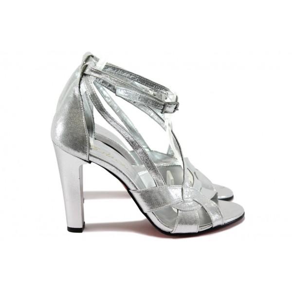 Елегантни дамски сандали ЕО 508 сребро