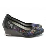 Анатомични дамски обувки от естествена кожа МИ 210 черен