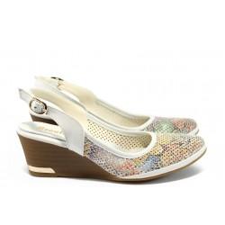 Анатомични дамски обувки от естествена кожа МИ 213 бял