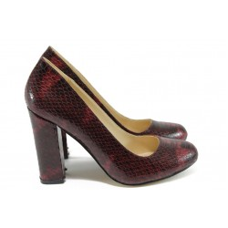 Дамски обувки на висок ток МИ 23 бордо