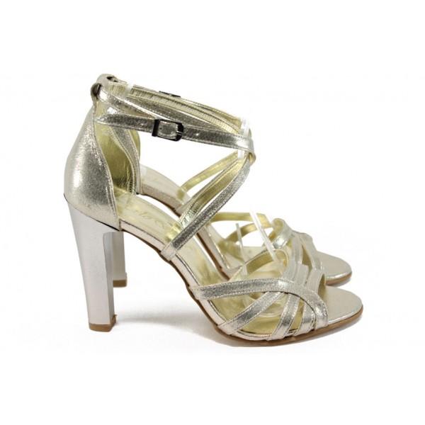 Елегантни дамски сандали ЕО 509 златно