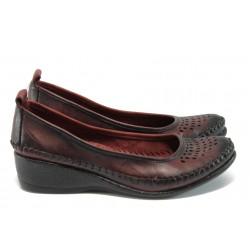 Анатомични дамски обувки от естествена кожа МИ 150 бордо