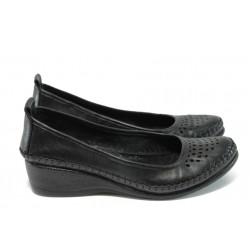 Анатомични дамски обувки от естествена кожа МИ 150 черен