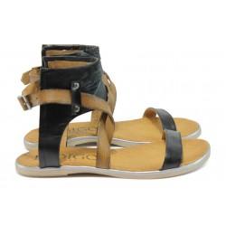 Анатомични дамски сандали от естествена кожа ИО 15100 черен